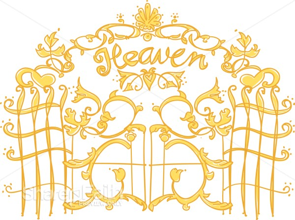 Pearly gates of christian. Heaven clipart promised land