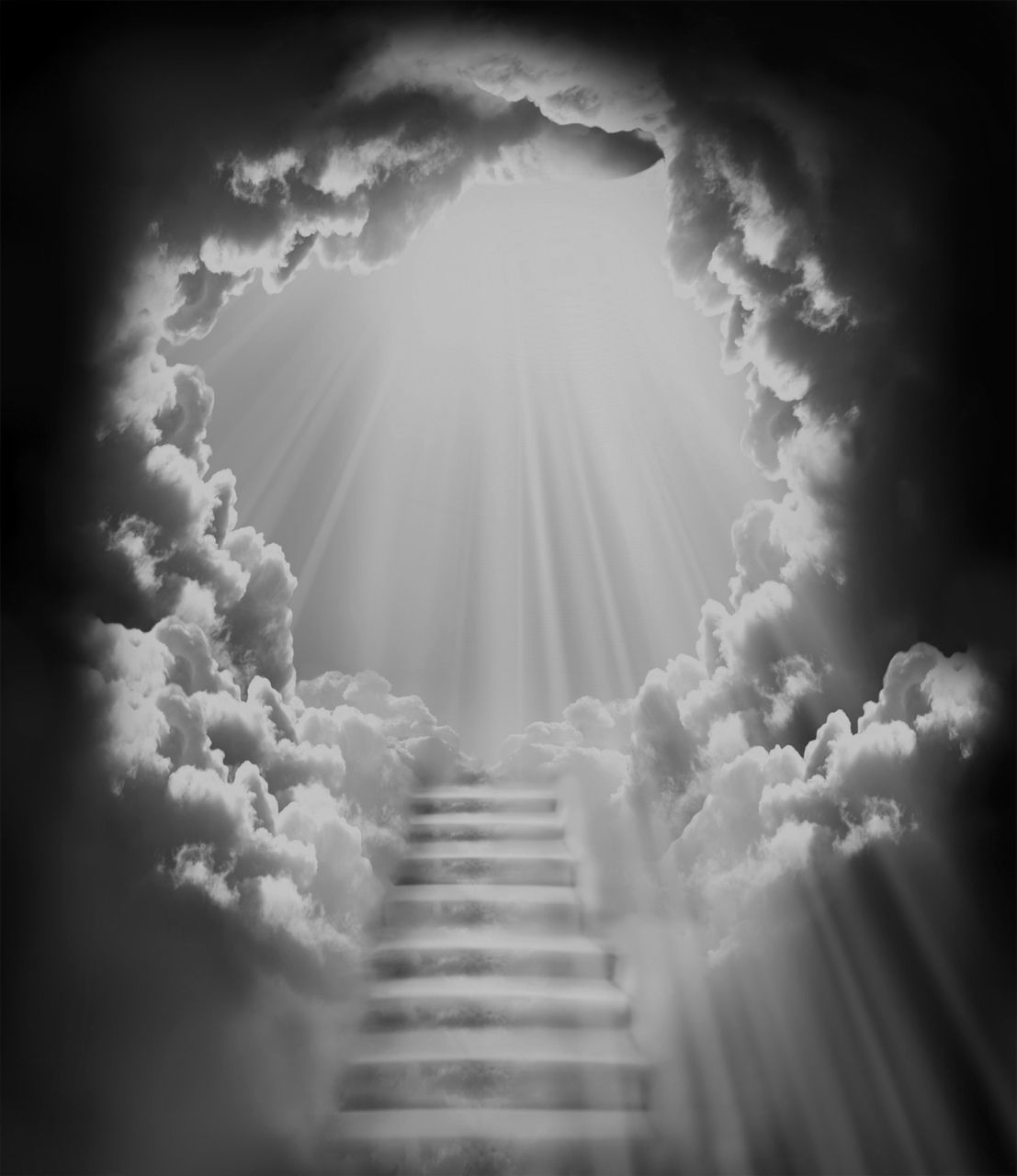 Seeing the white light. Heaven clipart realistic