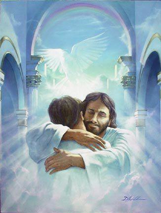 Jesus in panda free. Heaven clipart revelation