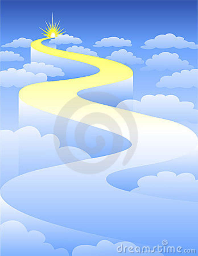 To clip art free. Heaven clipart road