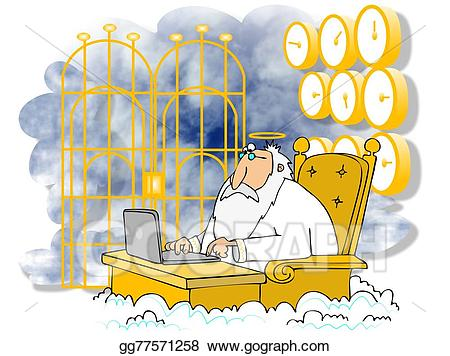 Heaven clipart saint peter. Stock illustration st at