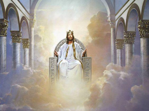 Heaven clipart savior. Jesus christ sitting on