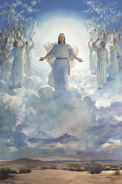 Heaven clipart second coming. The of lord jesus