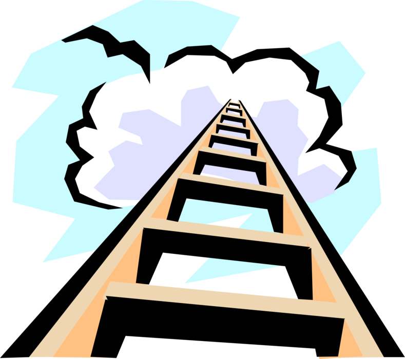 Heaven clipart staircase. Stairway to step ladder