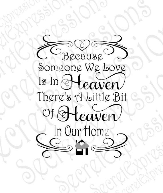 Because someone we love. Heaven clipart svg
