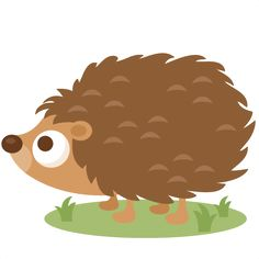 Hedgehog clipart. Cute svg file for