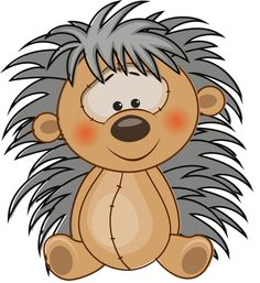 Hedgehog clipart. Free funny hedgehogs cartoon