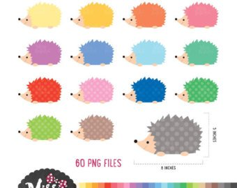 Etsy colors png files. Hedgehog clipart