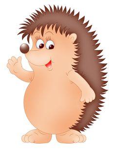 Free funny hedgehogs cartoon. Hedgehog clipart