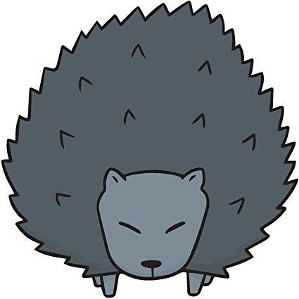 Amazon com cute gray. Hedgehog clipart angry cartoon