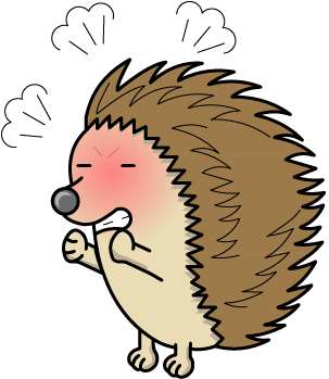 Hedgehog clipart angry cartoon. Porcupine images gallery for