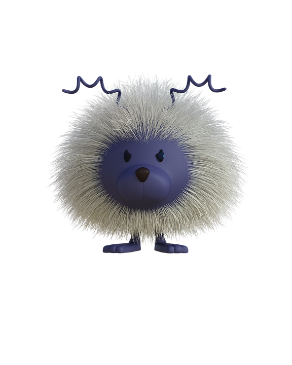 Collection of cute cliparts. Hedgehog clipart animated