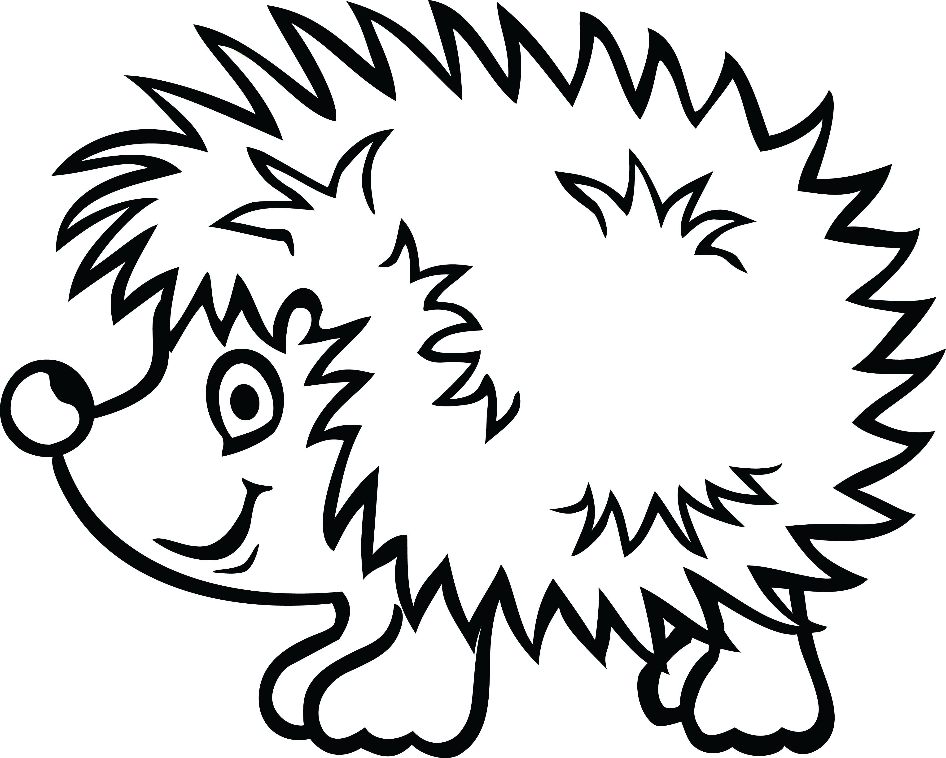 collection of high. Hedgehog clipart black and white