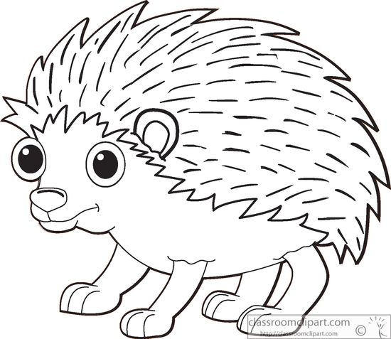 Free outline cliparts download. Hedgehog clipart black and white
