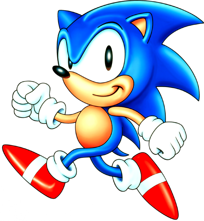 Hedgehog clipart border. Sonic the blue streak