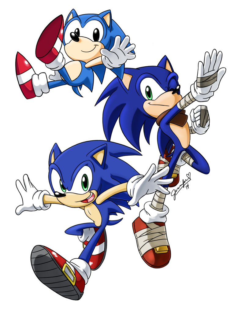 Happy rd sonic by. Hedgehog clipart chibi