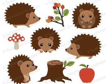 Hedgehog clipart clip art. Etsy