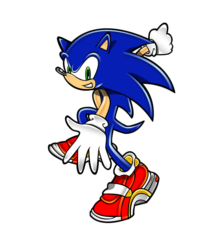 Hedgehog clipart colorful. Sonic the colored by