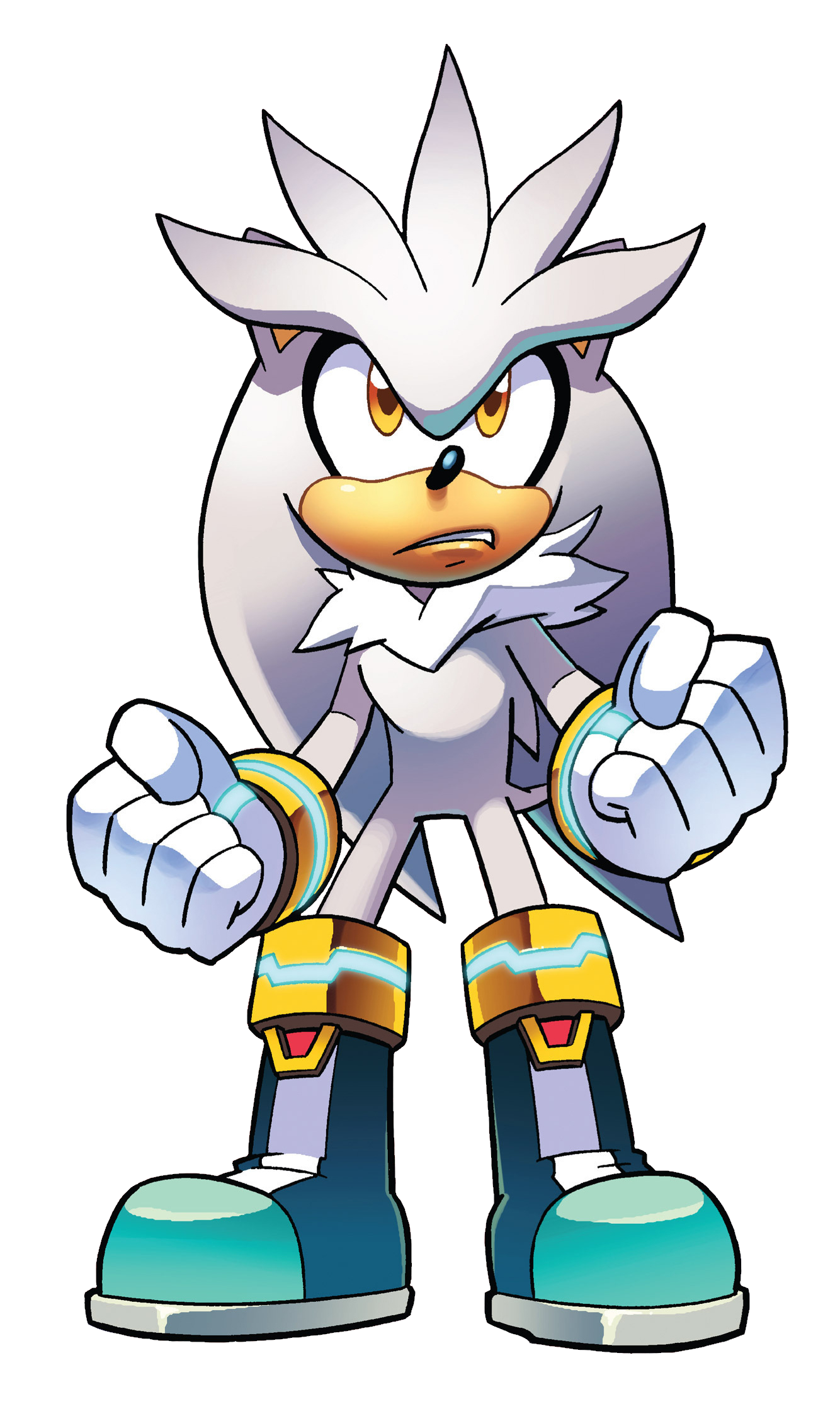 Hedgehog clipart comic. Silver the archie sonic