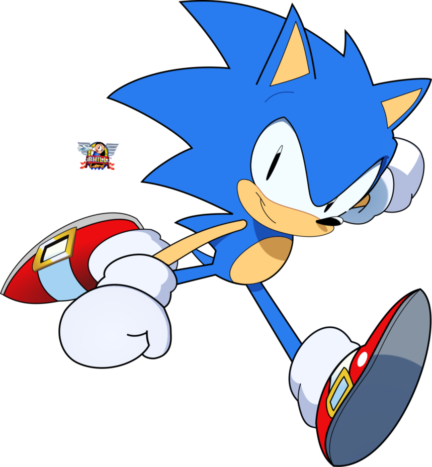 Hedgehog clipart drawn. Sonic the drawing by