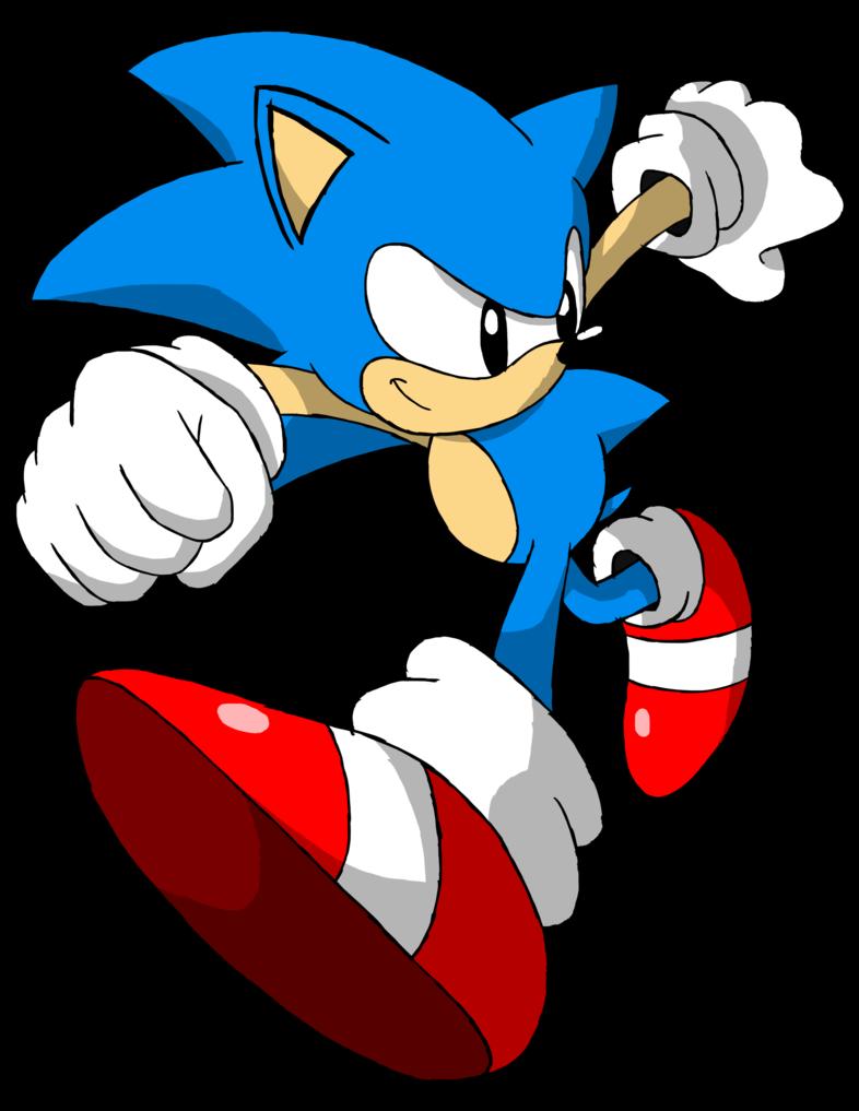 Hedgehog clipart drawn. Classic sonic adventure pose