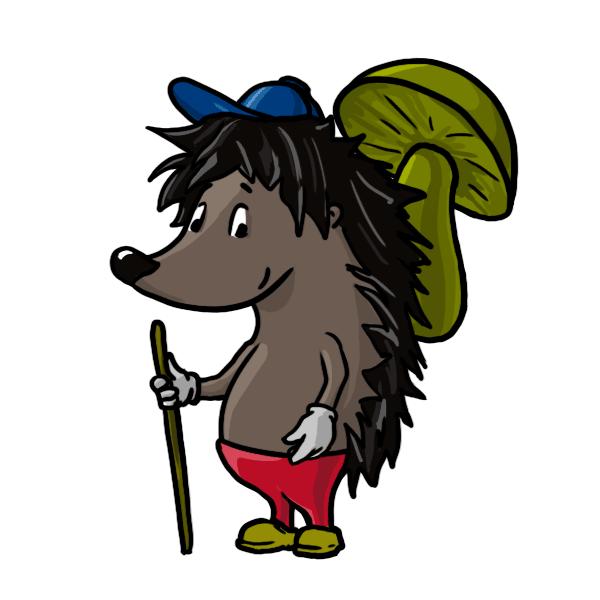 hedgehog clipart easy cartoon