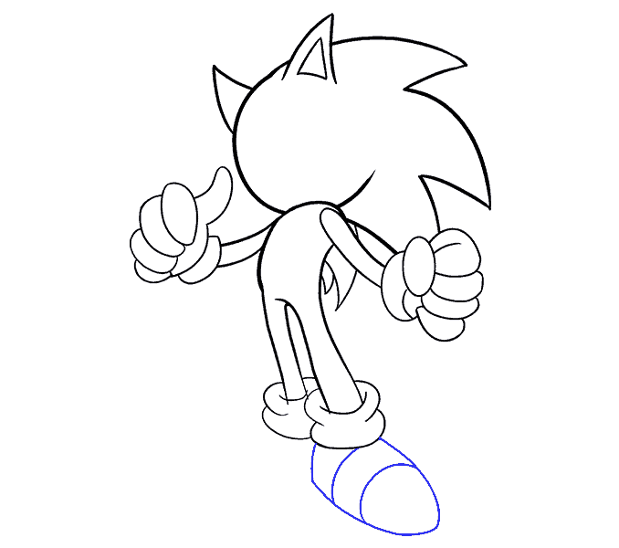 How to draw sonic. Hedgehog clipart easy cartoon