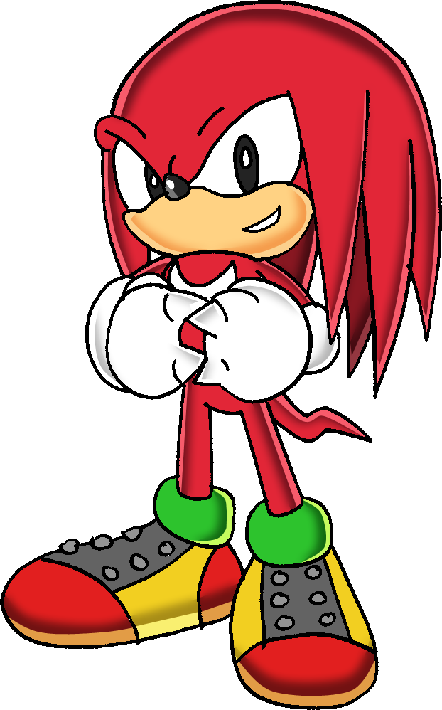 Surprise clipart border. Image classic knuckles the