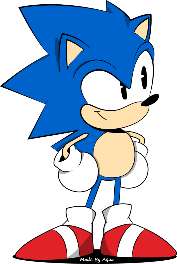 Classic sonic pose by. Hedgehog clipart erizo