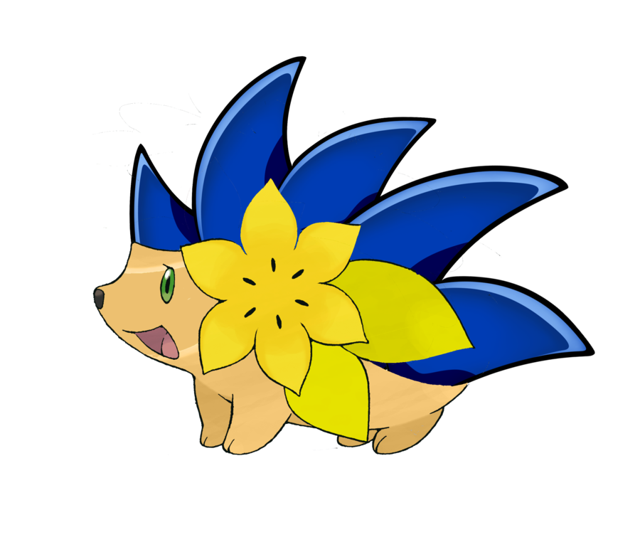 Shaymin the by deamon. Hedgehog clipart flower