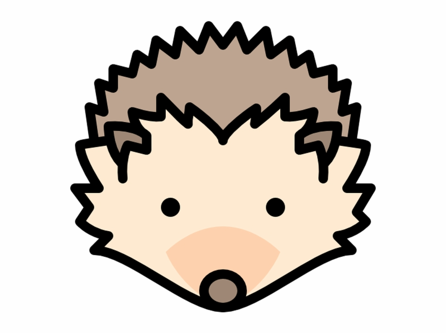 Hedgehog clipart hedgehog face. Free download silhouette the