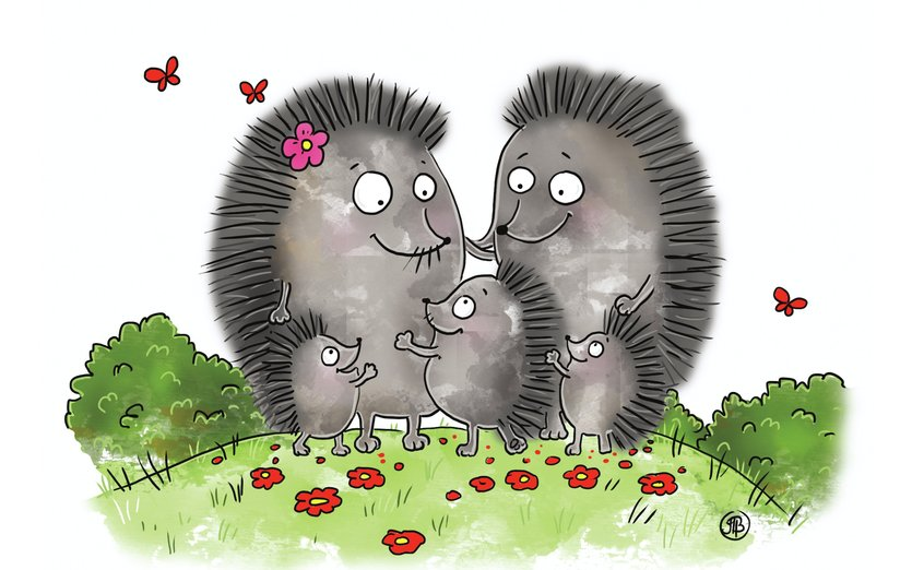 Hedgehog clipart hedgehog family. The by alicialeno chapter