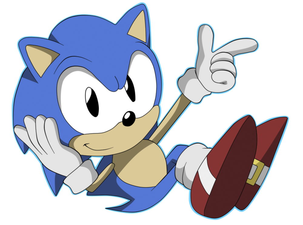 Sonic the character image. Hedgehog clipart hedgehog outline