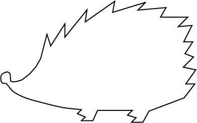 K literacy drawing . Hedgehog clipart hedgehog outline
