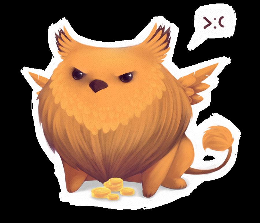 Hedgehog clipart kawaii. Fat griffin by skraww