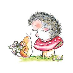 By clip art library. Hedgehog clipart penny black