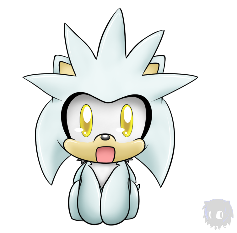 Silver chibi colored by. Hedgehog clipart sad