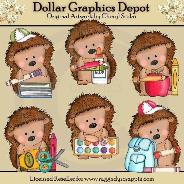 Pepper the goes to. Hedgehog clipart school