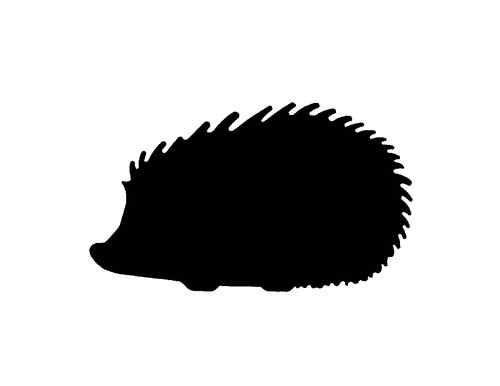 Metal steel not painted. Hedgehog clipart silhouette