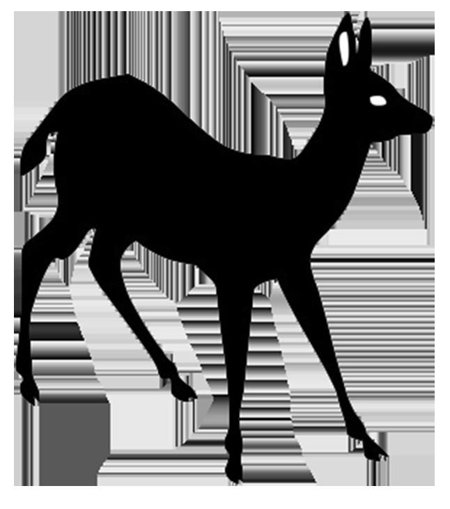 Hedgehog clipart silhouette. Of young deer adam