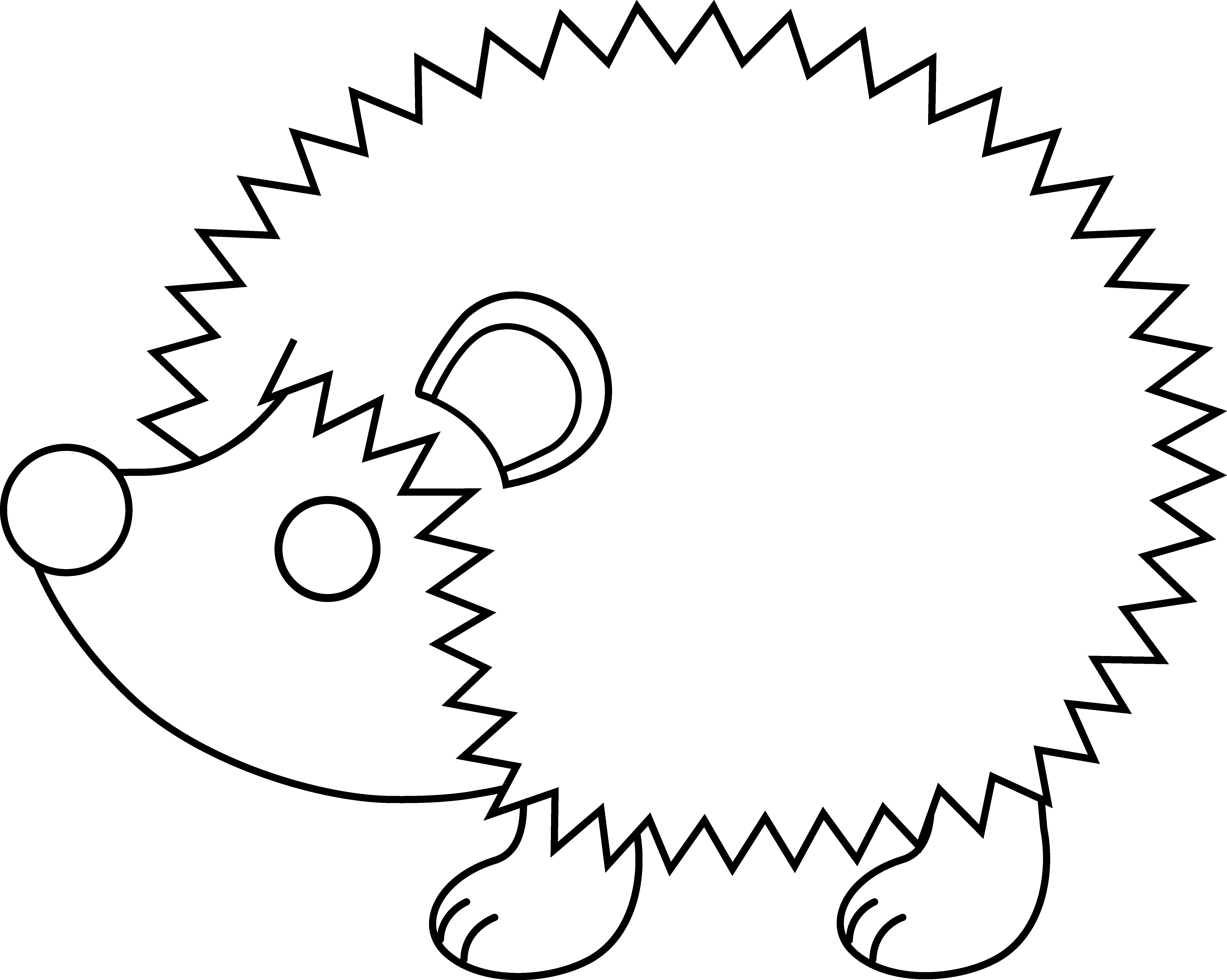 collection of outline. Hedgehog clipart silhouette