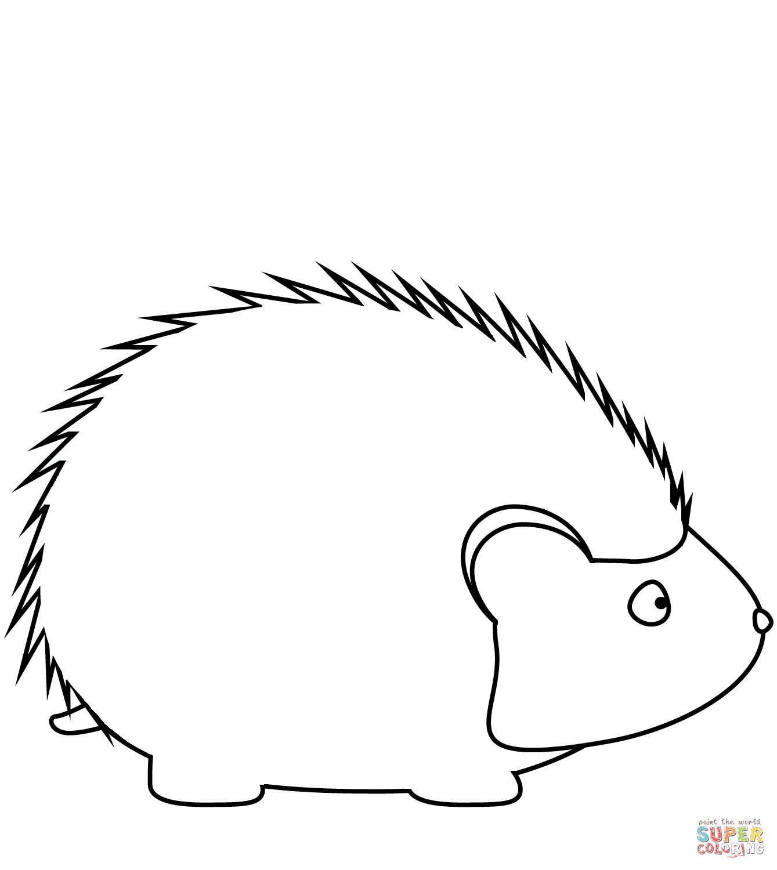 Free download clip art. Hedgehog clipart simple