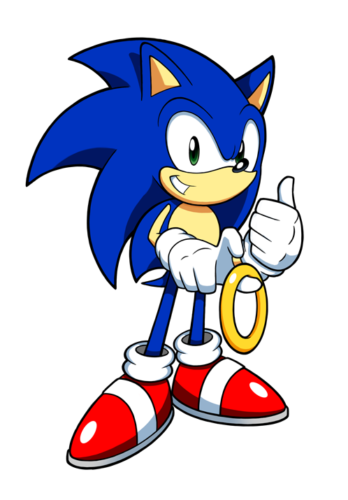 Hedgehog clipart simple. Sonic by hydro king