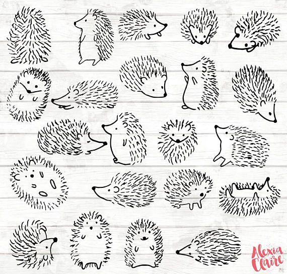 Hedgehog clipart simple. Doodle clip art