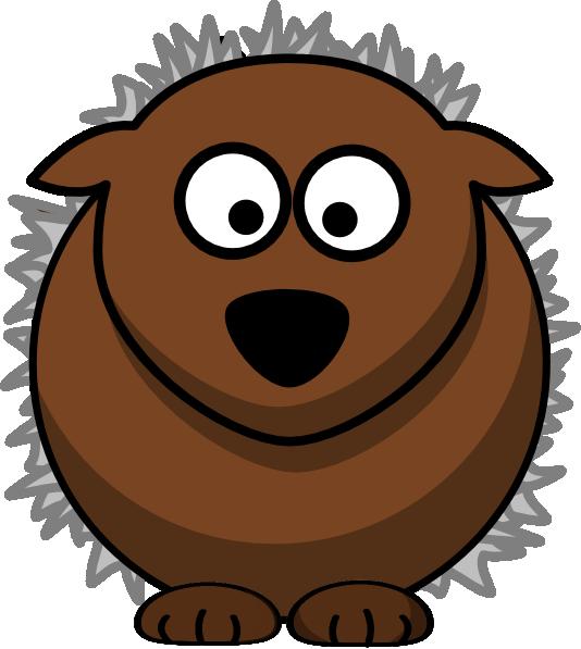 hedgehog clipart simple cartoon