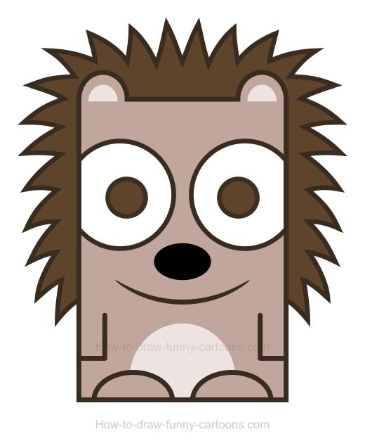 . Hedgehog clipart simple cartoon