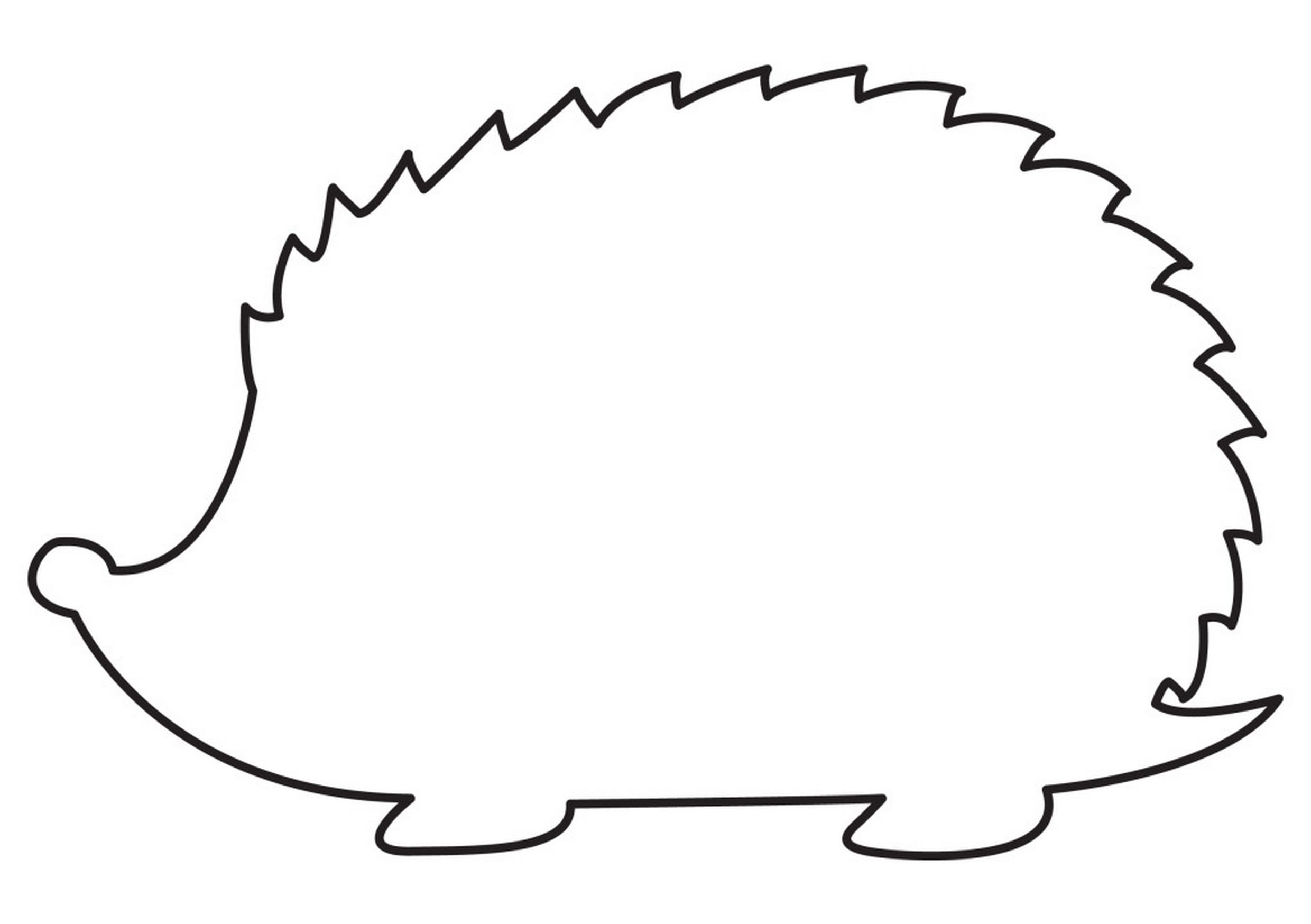 Hedgehog clipart simple. How to sketch a