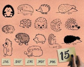 Hedgehog clipart svg. Etsy