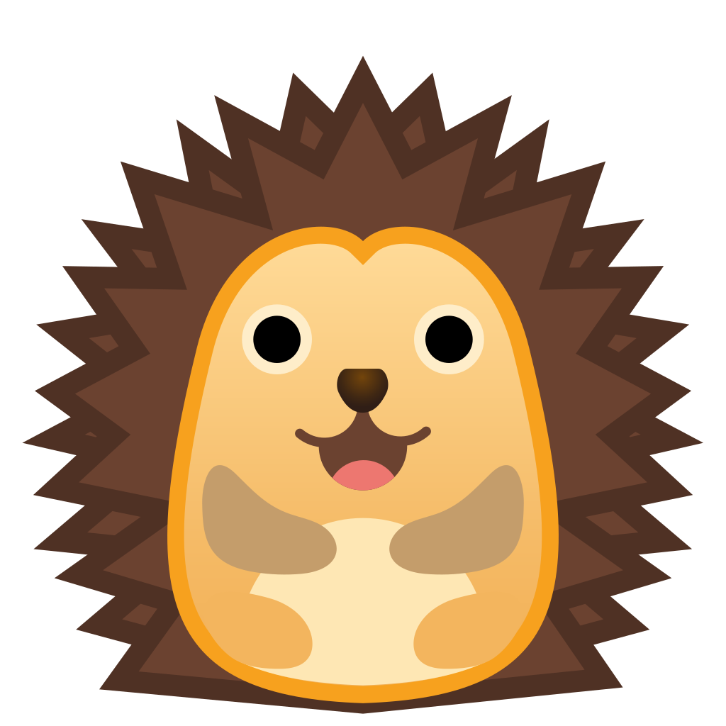 Hedgehog clipart svg. Icon noto emoji animals