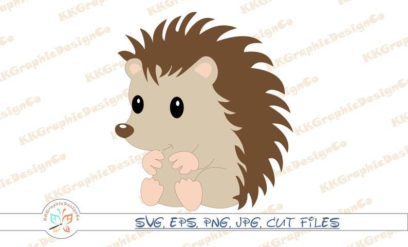 Cut file vector clip. Hedgehog clipart svg